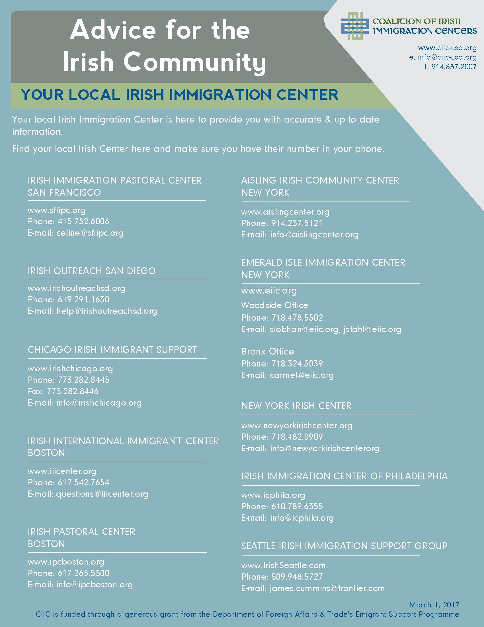Coalition of Irish Immigration Centers